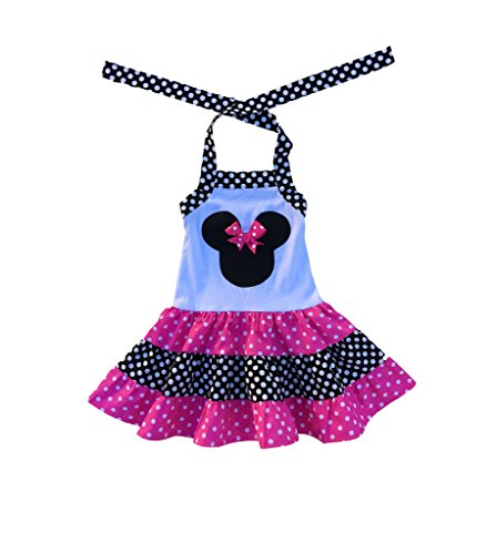 Toddler Moses Costume (Minnie Mouse Pink Dress-Minnie Mouse Polka Dot Dress- Minnie Mouse Birthday Party Girl Dress- Minnie Mouse Costume Outfit- Minne Mouse Girl Clothes)