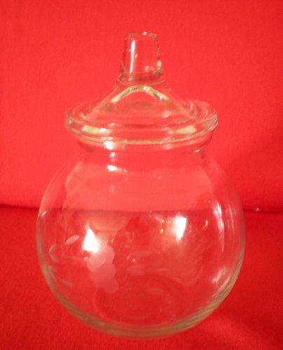 (Princess House Heritage Crystal Cotton Ball Jar with Lid)