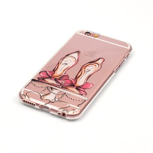 Custodia iPhone 6 / 6S , LH Scarpe Con Tacco TPU Silicone Trasparente Case Cover Cristallo Morbido Custodie per Apple iPhone 6 / 6S 4.7