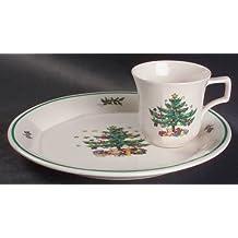 Nikko Ceramics Christmastime Snack Set for 4 , 8 pieces