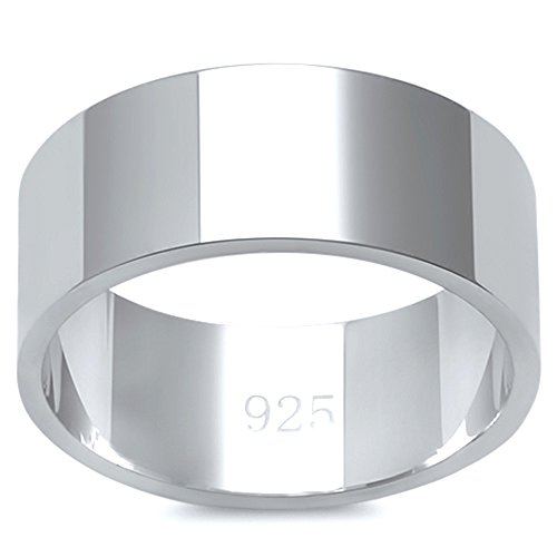Oxford Diamond Co Solid Flat Sterling Silver
