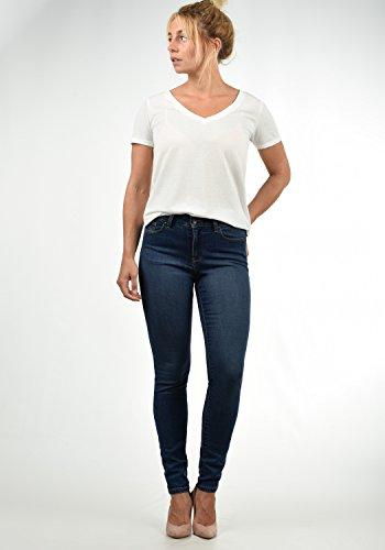 Rise Mujer L30 Jeans para Tejano Elastico Mid Color Dark Blue Moda tamaño Vero Diamant Vaquero Denim XS 1BCBvq