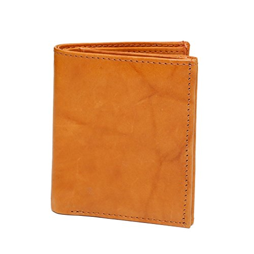 Ashlin Unisex Double ID wallet, Tuscany Cowhide leather British Tan [7931-18-08]