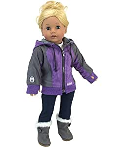 Amazon.com: 18 Inch Doll Jacket with Hood, Coleman Winter
