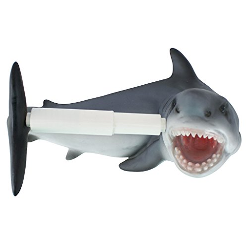 Design Toscano Shark Attack Bathroom Toilet Paper -
