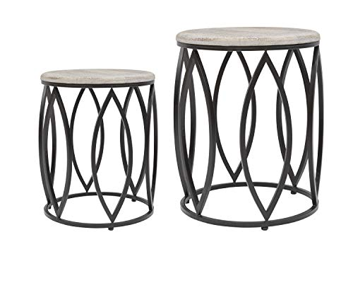 Global Archive Ivy Mango and Metal Accent Tables (Set of 2) ()
