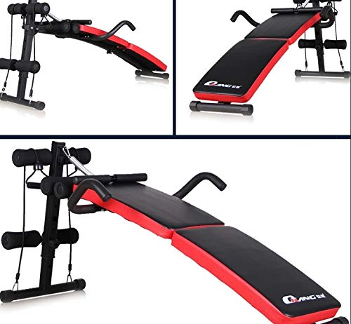 GaoMiTA Folding Multifunctional Supine Board Thickening and lengthening Fitness Equipment Home sit-ups and Abdominal Panels Abdominal Board by GaoMiTA (Image #1)