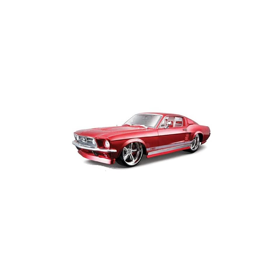 Maisto Pro Rodz   Ford Mustang GTA Fastback Hard Top (1967, 118, Red) diecast car model tune desing american classic