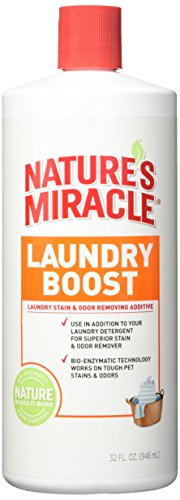 Feces Stain Removal (Natures Miracle Laundry Boost Stain and Odor Additive - 32 FL Oz)