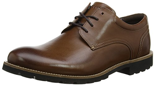 Leather Zapatos Derby BX2341 Marrón Brown Rockport Hombre YgTUvTq