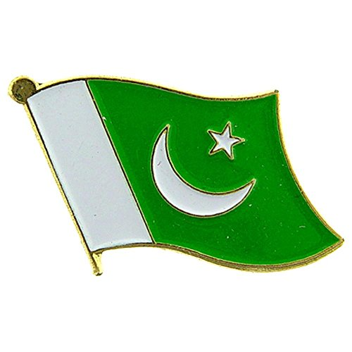 "Backwoods Barnaby Pakistan Flag Lapel Pin/International Travel Pins Collections by (0.75"" x 0.75"")"