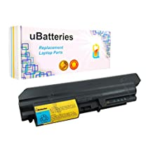 "UBatteries Laptop Battery IBM ThinkPad R400 T400 R61 R61i T61 (14.1"" Widescreen) 42T5228 42T5229 42t5230 42T5262 42t5263 42T5264 42T5265 43R2499 92P1142 41U3196 - 6 Cell, 4400mAh"