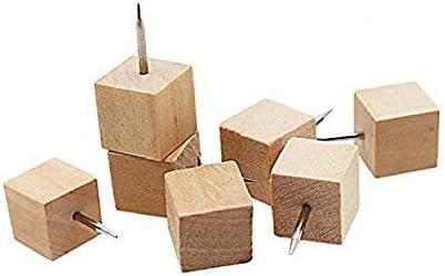 60本 画びょう ピン 押しピン コルク ボード 地図 写真 木製のプッシュピン