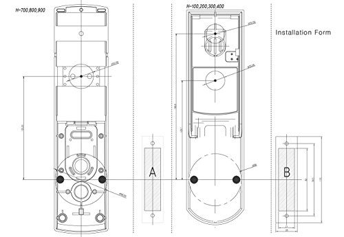 HionePlus H-3400SK, Digital Mini Main Door Lock, PIN+Card+Emergency Key by Hioneplus (Image #6)