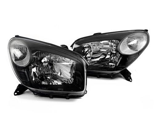 04-05 Toyota RAV4 Black Headlights w/ Clear Turn Signals (2004 2005) - Buy Online in UAE ...