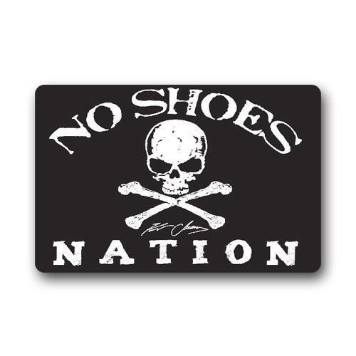 (SPXUBZ Pirate Flag Kenny Chesney House Non Slip Entrance Rug Outdoor/Indoor Durable and Waterproof Machine Washable Door mat Size:18x30)