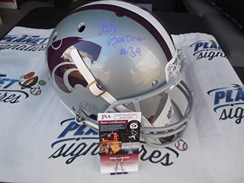 - Alex Barnes signed Kansas K State KSU Wildcats full size helmet JSA COA