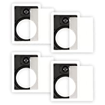 Theater Solutions 65WFG Frames and Grills for 6.5 Inch In Wall Speakers 2 Pair Pack