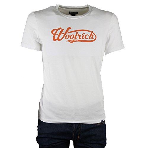 shirt Mod Woolrich Bianco Logo Tee T 1TwqWxz7v