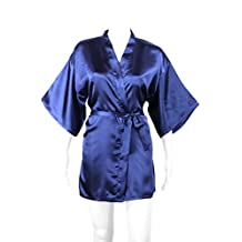 Women's Silky Satin Robe, Short