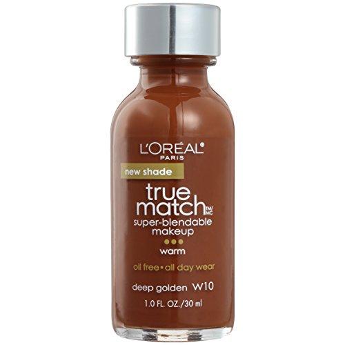 (L'Oréal Paris True Match Super-Blendable Foundation Makeup, Deep Golden, 1 fl. oz.)