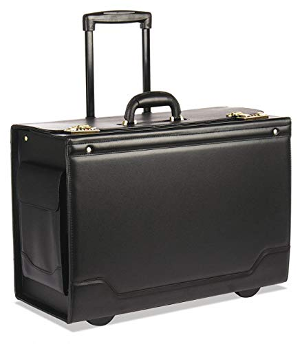 (Leather/Tufide/Steel Roller Laptop Case for Laptop Up to 17