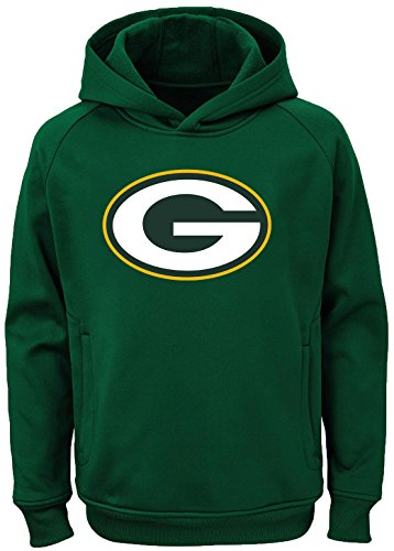 - Outerstuff NFL Youth Team Color Performance Primary Logo Pullover Sweatshirt Hoodie (Large 14/16, Green Bay Packers)