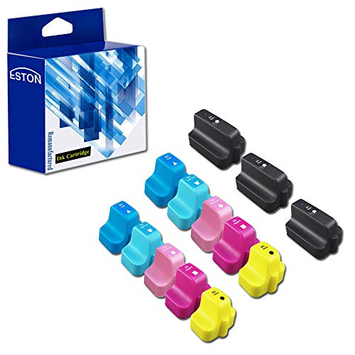 13 For HP 02 Remanufactured Ink Cartridges: Three Black and Two Each of Cyan, Magenta, Yellow, Light Cyan and Light Magenta ()