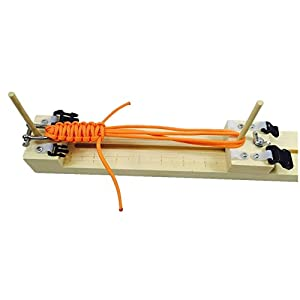 MAX HERO Adjustable length paracord jig Bracelet Maker wooden frame-Paracord Braiding Weaving DIY Craft Tool Kit