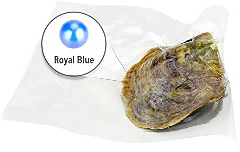 Ny Akoya Round Cultured Pearl in Oyster Vacuum Package 6-7mm 30pcs (Royal Blue)
