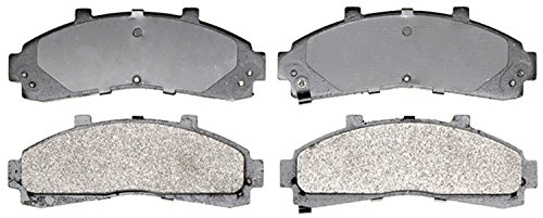 ACDelco 14D652M Advantage Semi-Metallic Front Disc Brake Pad Set with Wear Sensor
