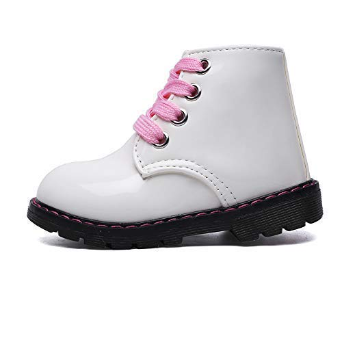 Classic Waterproof Shoes for Girl Toddler Zip White Walking Boots,Toddler 5.5M by Cixi Maxu E-Commerce.Co.Ltd (Image #2)