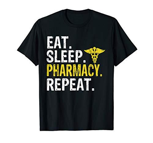 Eat Sleep Pharmacy Repeat Pharmacist Gift T-Shirt ()