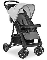 Hauck Shopper Neo II, 4-hjulig barnvagn upp till 25 kg, med liggläge från födseln, kompakt hopfällning, låg vikt på endast 7,9 kg och 2 mugghållare – grå