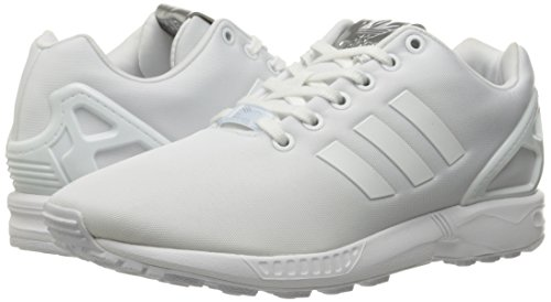 Flux white white Adidas Womens Leather Trainers Zx White w0wqvYE