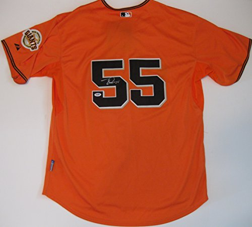 Tim Lincecum, San Francisco Giants, Signed, Autographed, Authentic Jersey, PSA DNA, a COA with the Proof Photo of Tim Signing the Jersey Will Be Included