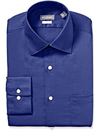 Men's Dress Shirts Fitted Lux Sateen Stretch Solid Spread Collar
