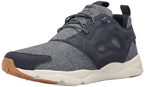 Reebok Mens Furylite Refine Fashion Sneaker Collegiate Navy / Chalk-gum