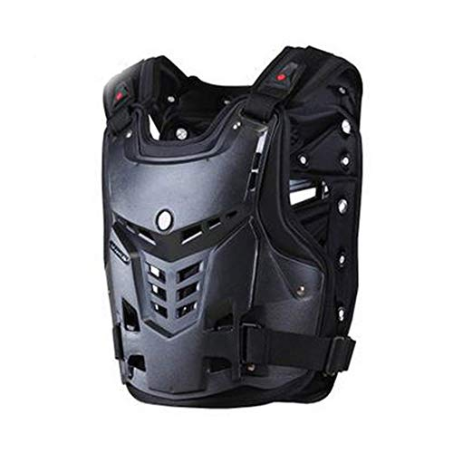NCBH Motorcycle Protective Jacket,Off-Road Armor Anti-Collision and Shatter-Resistant Chest Back Knight Equipment Protective Gear Riding,Black