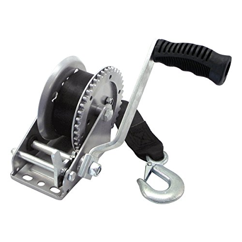 4012042 Shoreline Marine Trailer Winch 1200Lb with Strap