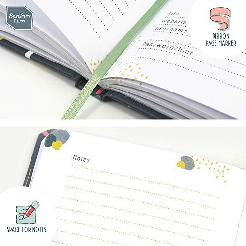 Boxclever Press Password Journal, Passwort Buch. Gebundener Passwort Organizer für Websites, Nutzernamen und Passwörter mit Register A-Z für Konten und Logins. Unbetitelt für extra Sicherheit (Vögel)