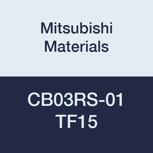 Mitsubishi Materials CB03RS-01 TF15 CB Series Carbide Micro-Mini Twin Boring Bar without Breaker Right 0.1 mm Radius 3 mm Shank Dia Non-Coated 50 mm Length