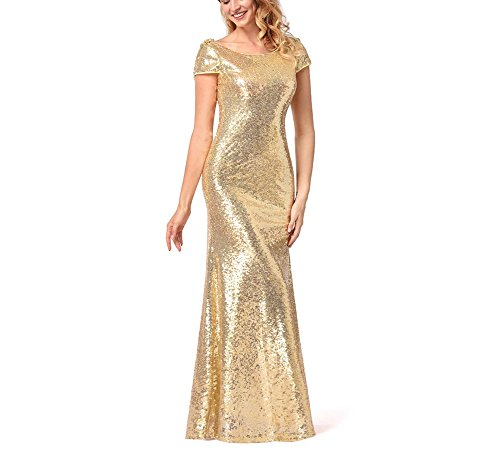Mujer Vestido Largo Lentejuelas Elegante Vestido para Noche Fiesta Partido: Amazon.es: Ropa y accesorios