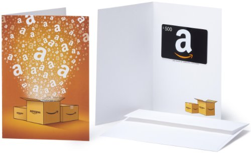 Amazon.com $500 Gift Card in a Greeting Card (Amazon Surprise Box Design) (500 Folded Cards)