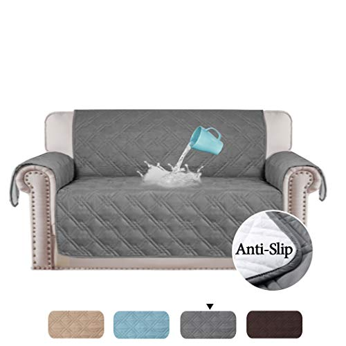 100% Waterproof Original Slip Resistant Loveseat Slipcover Protector Quilted Furniture Covers Prevent Stains Couch Furniture Cover Perfect for Kids, Dogs ,Pets 75