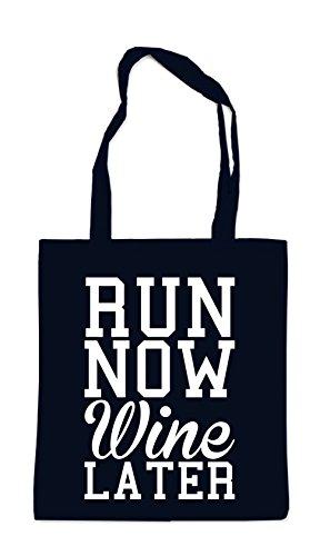 Run Now - Wine Later Bolsa Negro Certified Freak