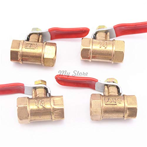 Copper Pipe 1/4'' 3/8'' 1/2'' Female Thread Ball Valve Brass Connector Joint Fitting Coupler Adapter 1/2