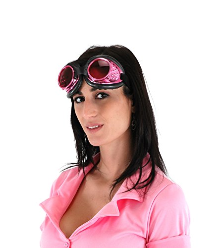 elope Radioactive Steampunk Aviator Goggles Pink ()