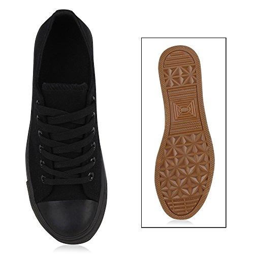 0c5eb72416418d ... Sportliche Damen Sneakers Metallic Schuhe Schnürer Sneaker Low Spitze  Turnschuhe Blumen Denim Stoffschuhe Flats Flandell Schwarz