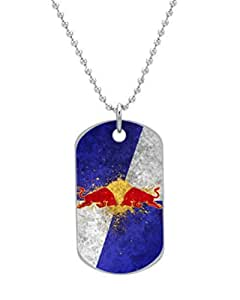 """Red bull Dog Tag Dimensions 1.3X2.2X0.1 inches ,Comes with 30"""" inches beads chain"""